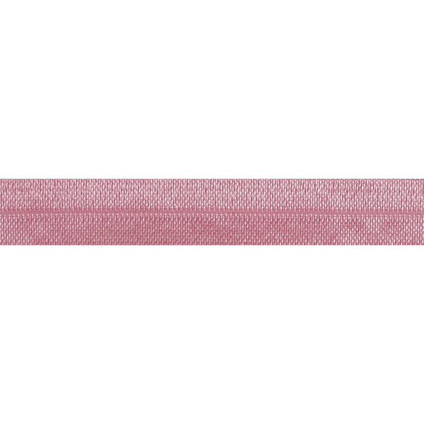 "Peony Pink - 5/8"" Solid Fold Over Elastic"