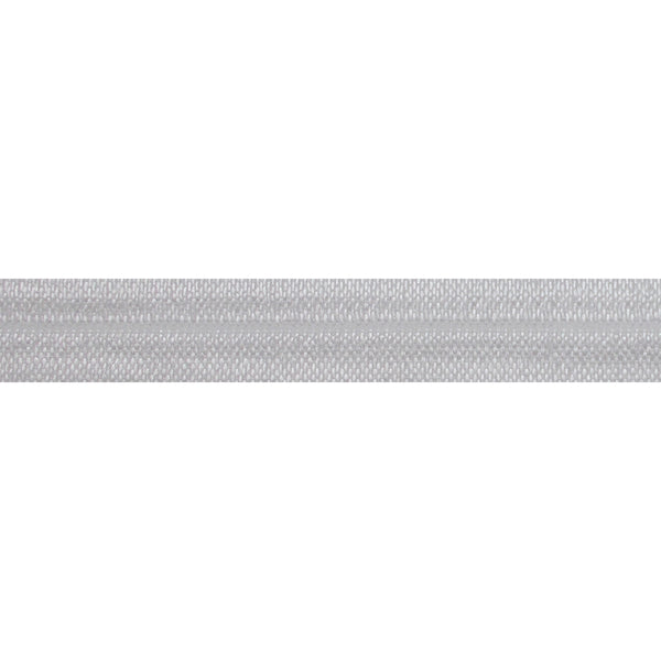 "White - 5/8"" Solid Fold Over Elastic"