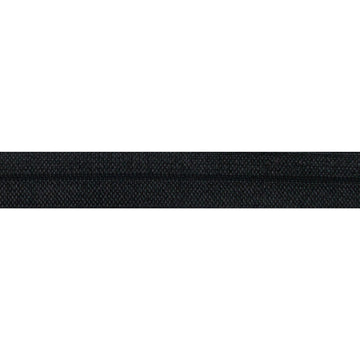 "Black - 5/8"" Solid Fold Over Elastic"