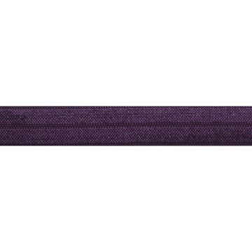 "5 Yards - Eggplant - 5/8"" Solid Fold Over Elastic"