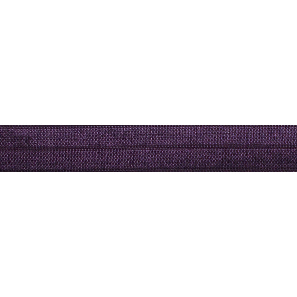 "Eggplant - 5/8"" Solid Fold Over Elastic"