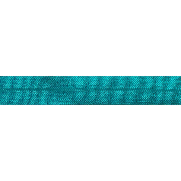 "Jade Blue - 5/8"" Solid Fold Over Elastic"