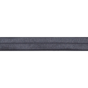 "5 Yards - Charcoal - 5/8"" Solid Fold Over Elastic"