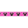 "Minnie Mouse - Neon Pink & Polka Dots - 5/8"" Fold Over Elastic"