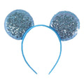 "Cinderella Blue - 3.25"" Sequins Mouse Ears Headband"