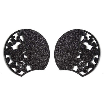 "Black Mouse Love - 3.25"" Glitter + Felt Mouse Ears"