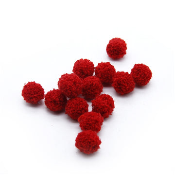"Red - 3/4"" Wool Ball"