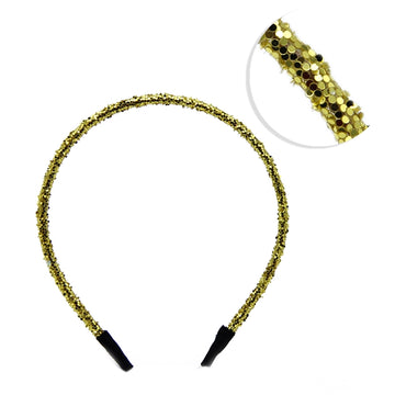 Yellow Gold - 5mm Chunky Glitter Headband