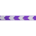 "Purple & Silver Arrow Chevron - 5/8"" Metallic Printed Fold Over Elastic"