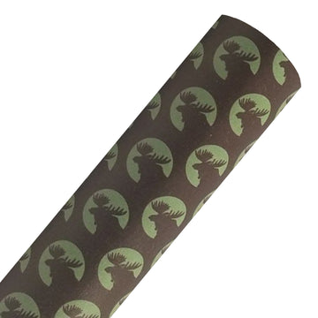 Brown Moose - Custom Printed Smooth Faux Leather Sheet