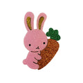 "Light Pink Bunny - 2.5"" Felt + Glitter Applique"