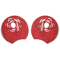 "Red Rose - 3.25"" Glitter + Felt Mouse Ears"