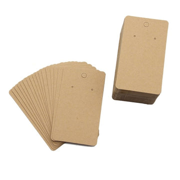 "2"" x 3.5"" - Kraft Earring Cards"
