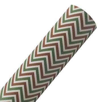 Cabin Fever Chevron - Custom Printed Smooth Faux Leather Sheet