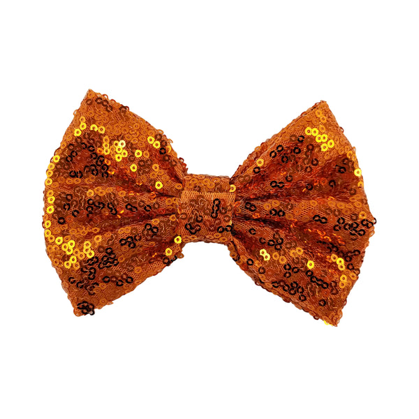 "Orange - 5"" XL Sequin Bow"