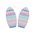 "Spring Chevron - 3"" Padded Bunny Ears"
