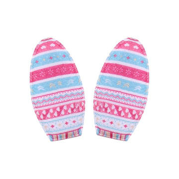 "Pink + Blue Tribal - 3"" Padded Bunny Ears"