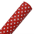 Red + White Polka Dot - Chunky Glitter Canvas Fabric Sheet