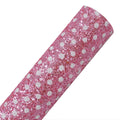 Light Pink + White Polka Dot - Chunky Glitter Canvas Fabric Sheet