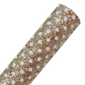 Gold + White Polka Dot - Chunky Glitter Canvas Fabric Sheet