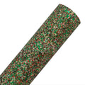Christmas - Chunky Glitter Canvas Fabric Sheet