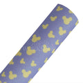 Lavender + Yellow Mouse - Fine Glitter Canvas Fabric Sheet