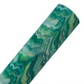 Green Paint Drip - Fine Glitter Canvas Fabric Sheet