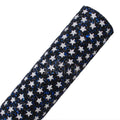 Black & Blue & White Stars - Chunky Glitter Fabric Sheet