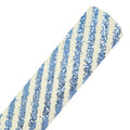 Blue Diagonal Stripes - Chunky Glitter Fabric Sheet