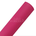 Hot Pink - Solid Pebbled Faux Leather Sheet