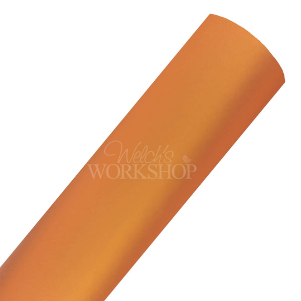 Orange Pearl - Solid Faux Leather Sheet