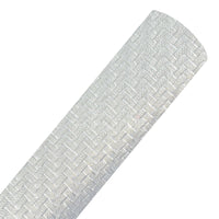 Silver - Woven Look Faux Leather Sheet