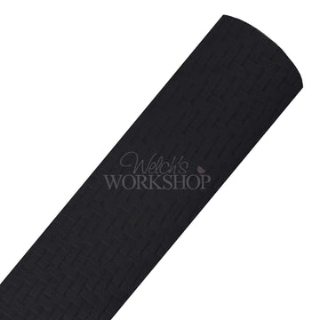 Black - Woven Look Faux Leather Sheet
