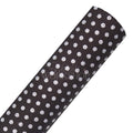 Charcoal & Silver Dot - Printed Faux Leather Sheet