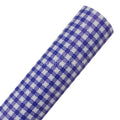 Blue Gingham - Printed Canvas Fabric Sheet