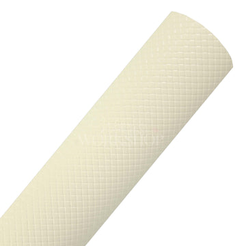 Cream - Basketweave Faux Leather Sheet