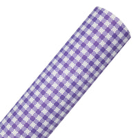 Purple Gingham - Printed Canvas Fabric Sheet