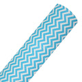 Aqua Blue Chevron - Printed Faux Leather Sheet