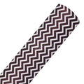 Black Chevron - Printed Faux Leather Sheet