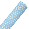 Blue & White Holo Dots - Printed Faux Leather Sheet