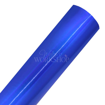Metallic Royal Blue - Solid Faux Leather Sheet