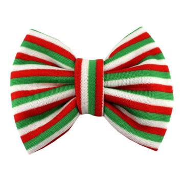 "Merry Stripes - 5"" Knit Christmas Bow"