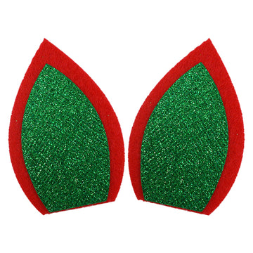 "Red + Green - 3"" Felt Unicorn Ears"