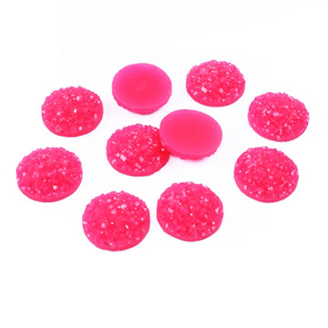Hot Pink - 10mm Druzy Cabachon