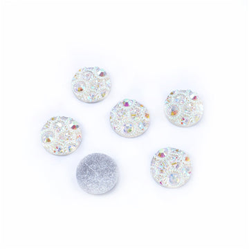 Hello Winter - 12mm Bling Druzy Cabachon