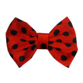 "Red Polka Dot - 5"" Large Velvet Bow"