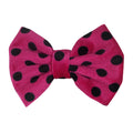 "Hot Pink Polka Dot - 5"" Large Velvet Bow"