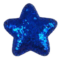 "Royal Blue Chunky Glitter Star - 2"" Padded Applique"