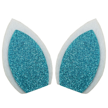 "White + Blue - 3"" Felt Unicorn Ears"