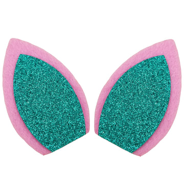 "Light Pink + Aquamarine - 3"" Felt Unicorn Ears"